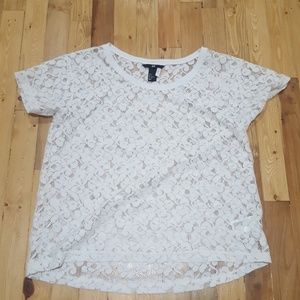 H&M Lace Short Sleeve Shirt